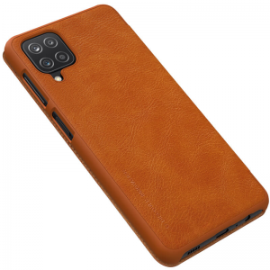 Samsung Galaxy A12 Nillkin Qin Series Genuine Leather case - Brown  MS000508