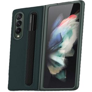 Tough-JAK Samsung Galaxy Z Fold 3 S Pen Leather-Style Case - Green