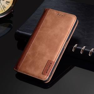 Aioria Coque Google Pixel 6 Leather Flip Case - Brown  MS000864