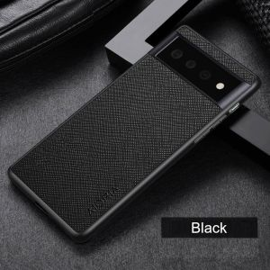 Aioria Cross Grain Leather-Style Google Pixel 6 Pro Case - Black MS000974