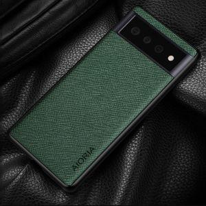 Aioria Cross Grain Leather-Style Google Pixel 6 Pro Case - Green MS000975
