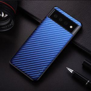 Aioria Google Pixel 6 Pro Carbon Fiber Case Cover - Blue MS0001002