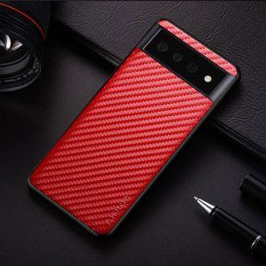 Aioria Google Pixel 6 Pro Carbon Fiber Case Cover - Red MS0001003