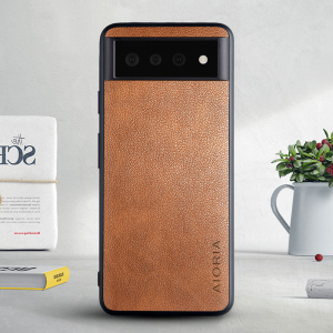 Aioria Google Pixel 6 Pro Leather case - Brown MS000862