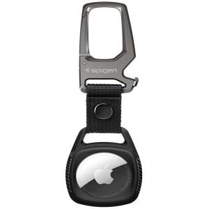Apple AirTag Spigen Rugged Armor Keyring - Matte Black MS000710