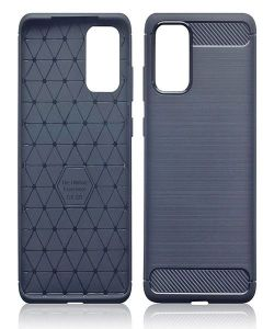 Samsung Galaxy S20 Plus Carbon Fibre Brushed Effect Gel Cover MS000027