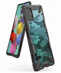 Samsung Galaxy A51 Ringke Fusion X Camo Case in Black MS000052