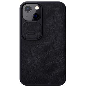 Genuine Leather iPhone 13 Mini Nillkin Qin Series Case - Black MS000823