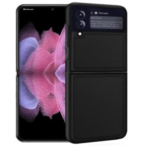 Genuine Leather Samsung Galaxy Z Flip 3 Case - Black MS000833