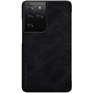 Genuine Nillkin Qin Series Leather Samsung Galaxy S22 Ultra Case - Black MS000964