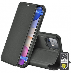 iPhone 12 - 12 Pro Duxducis Skin X Wallet Case - Black MS000237