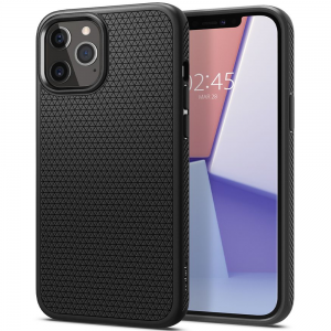 iPhone 12 & 12 Pro Spigen Liquid Air Cases - Matte Black
