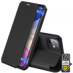 iPhone 12 Mini DuxDucis Skin X Wallet Cases - Black MS000261