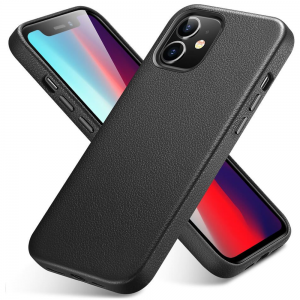 iPhone 12 Mini ESR Metro Premium Leather Case - Black MS000251