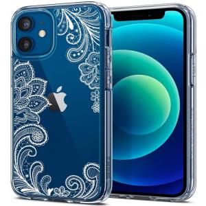 iPhone 12 Mini Spigen Cecile Case - White Mandala  MS000269