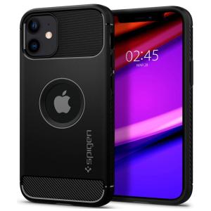 iPhone 12 Mini Spigen Rugged Armor Case - Matte Black MS000253