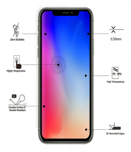 iPhone XR Eiger Tempered Glass Screen Protector MS000078