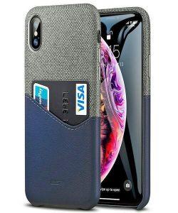 iPhone XS ESR Metro Max Wallet Case Blue