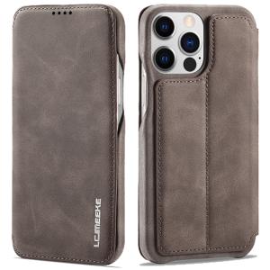 LCMeeke Luxurious iPhone 13 Mini Leather Style Flip Case - Mink MS000927