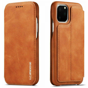 LCMeeke Luxurious Samsung Galaxy A52 - A52s Leather Style Flip Case - Brown MS000946