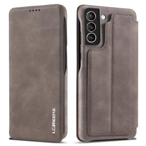 LCMeeke Luxurious Samsung Galaxy S21 FE Leather Style Flip Case - Mink MS000939