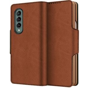 Luxurious Samsung Galaxy Z Fold 3 5G PU Leather Case - Brown  MS000727