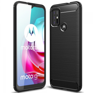 Motorola Moto G10 Tech-Protect Carbon Case - Black MS000645