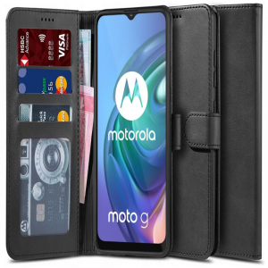 Motorola Moto G10 Tech-Protect Wallet Case - Black MS000644