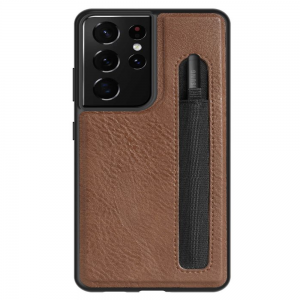 Nillkin Aoge Leather Samsung Galaxy S22 Ultra S Pen Cover case - Brown MS000961
