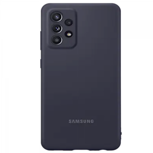 Official Samsung Galaxy A52 5G Silicone Cover - Black MS000611