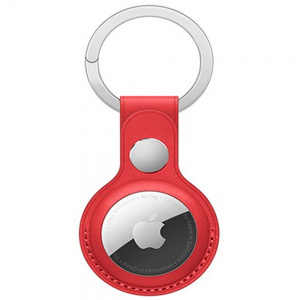 Apple AirTag Leather-Style Keyring - Red MS000703