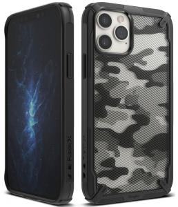 Ringke Fusion iPhone 12 - 12 Pro Camo Case - Black MS000271