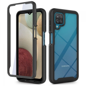Samsung Galaxy A12 Tech-Protect Defence 360 Case - Black