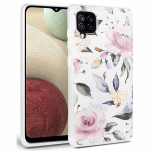 Samsung Galaxy A12 Tech Protect Floral Case Cover -  White MS000562