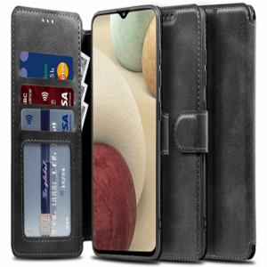 Samsung Galaxy A02s Tech-Protect 2 Wallet Case - Black MS000470