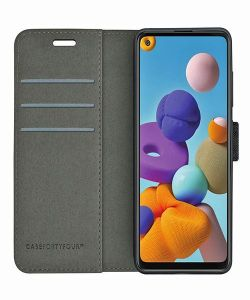 Samsung Galaxy A21s Case FortyFour No.11 Case - Black