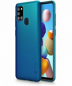 Samsung Galaxy A21S Nillkin Frosted Shield Case - Blue
