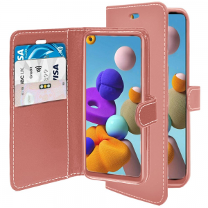 Samsung Galaxy A21s Wallet Case - Rose Gold MS000403