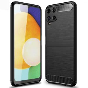 Samsung Galaxy A22 4G Carbon Fibre Case - Black MS000745