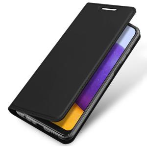Samsung Galaxy A22 4G DuxDucis Skin Pro Wallet Case - Black