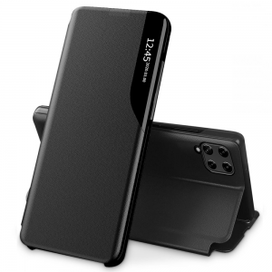 Samsung Galaxy A22 4G Tech-Protect Smart View Wallet Case - Black MS000746
