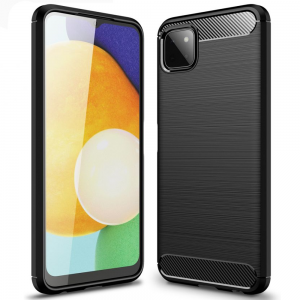 Samsung Galaxy A22 5G Carbon Fibre Case - Black MS000737