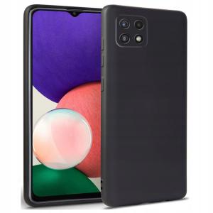 Samsung Galaxy A22 5G Tech-Protect Silicone Icon Case - Black MS000741