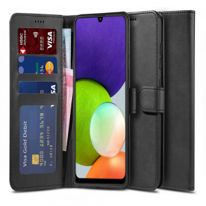 Samsung Galaxy A22 5G Tech Protect Wallet Case - Black MS000670