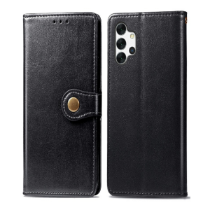 Samsung Galaxy A32 5G Magnetic Closure PU Leather Wallet Case Cover - Black MS000560