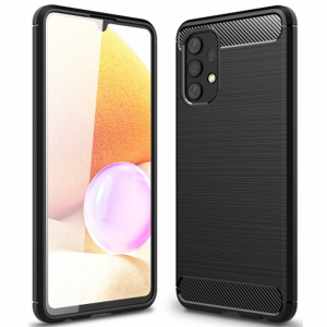 Samsung Galaxy A32 5G Tech-Protect Carbon Fibre Case - Black
