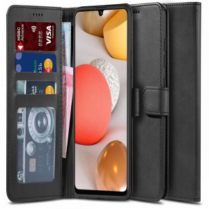 Samsung Galaxy A42 5G Tech-Protect 2 Wallet Case - Black MS000387