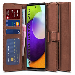 Samsung Galaxy A52s - A52 5G Tech-Protect Wallet Case - Brown MS000923
