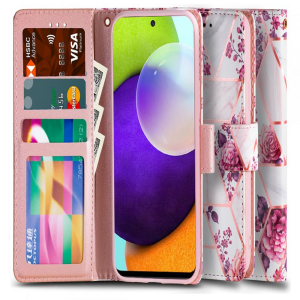 Samsung Galaxy A52s - A52 5G Tech-Protect Wallet Case - Floral Rose MS000681