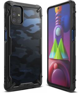 Samsung Galaxy M51 Ringke Fusion X Camo Case - Black MS000406